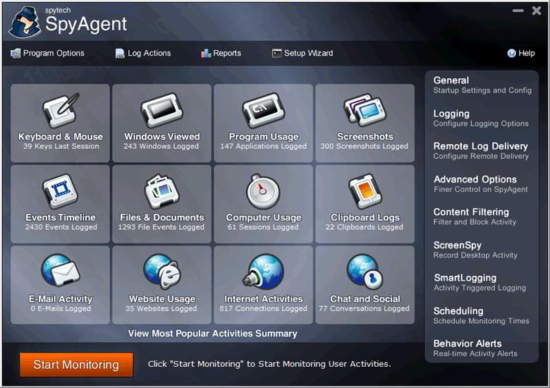 spyagent interface